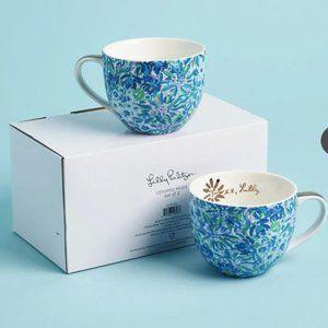 Lilly Pulitzer Ceramic Mugs (Set of 2)